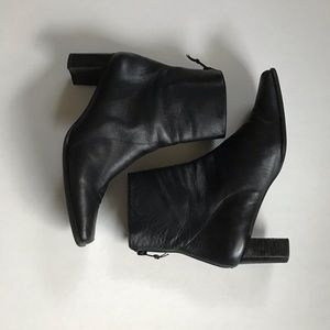 Stuart Weitzman Black Square Toe Boots